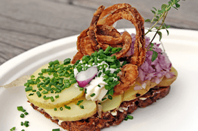 Smørrebrød: Danish open-faced sandwich