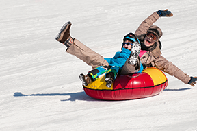 Snowtubing, Leysin, Switzerland